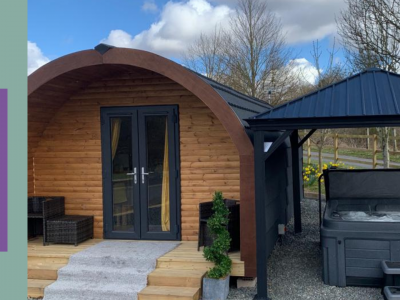 Luxury Glamping pods wit hot tub